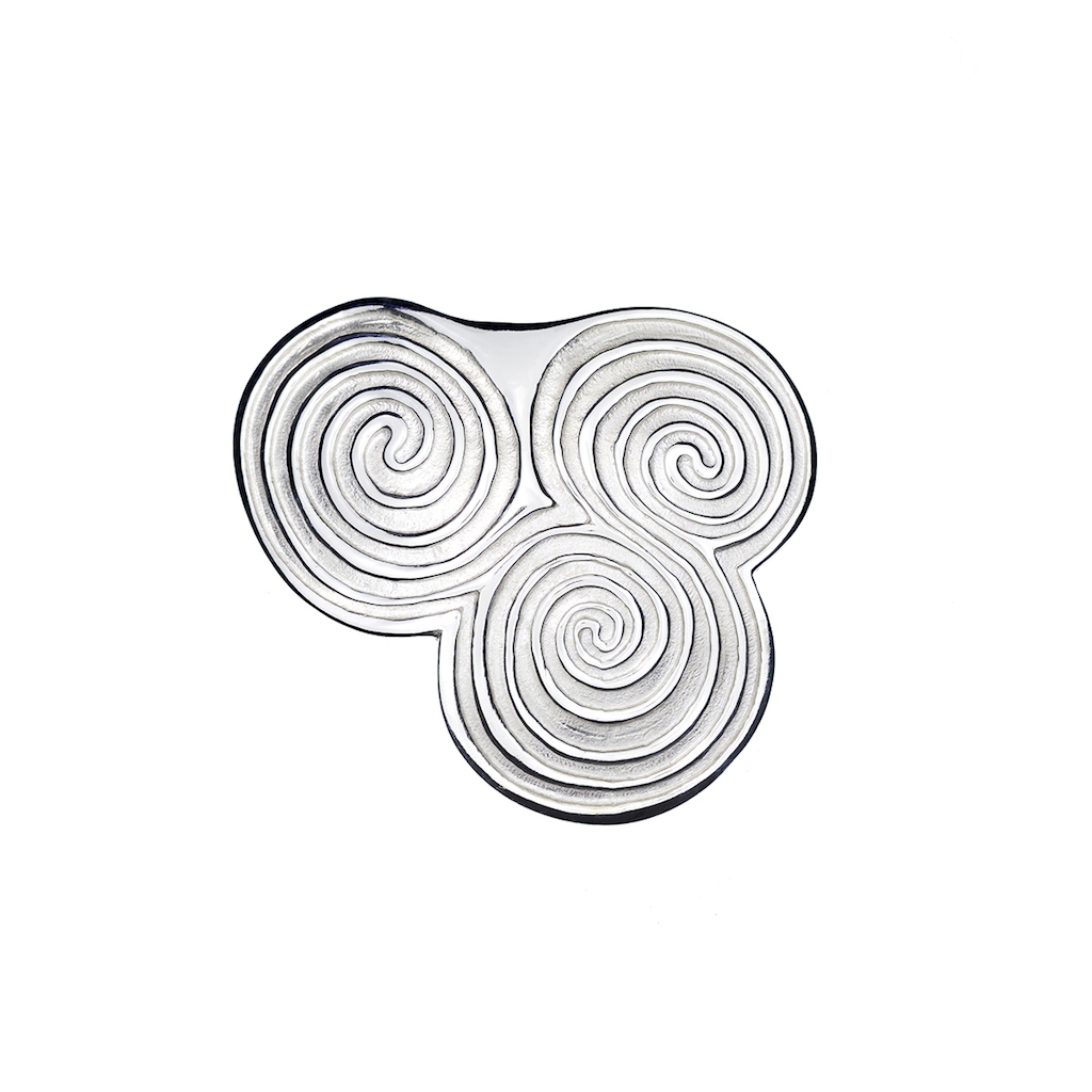 Newgrange Triple Energy Spiral Brooch
