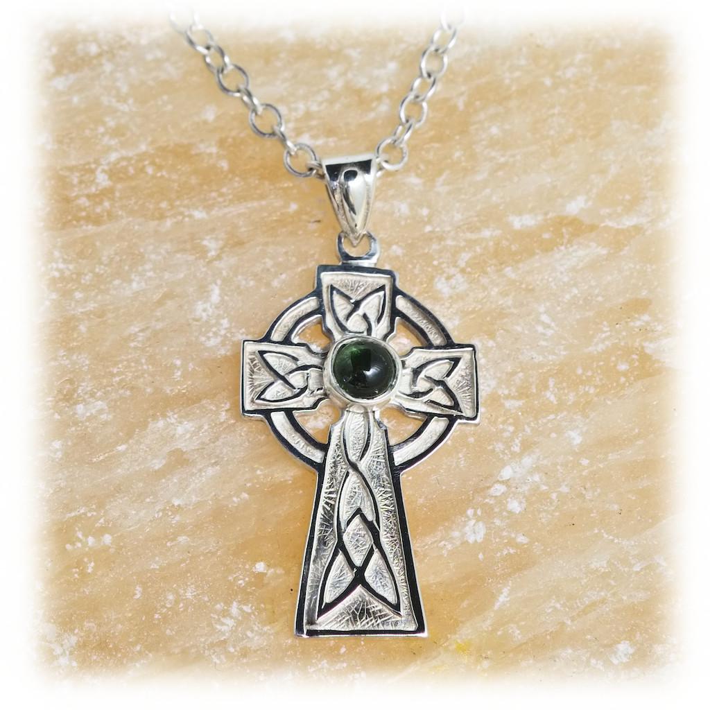 Silver Knotwork Cross