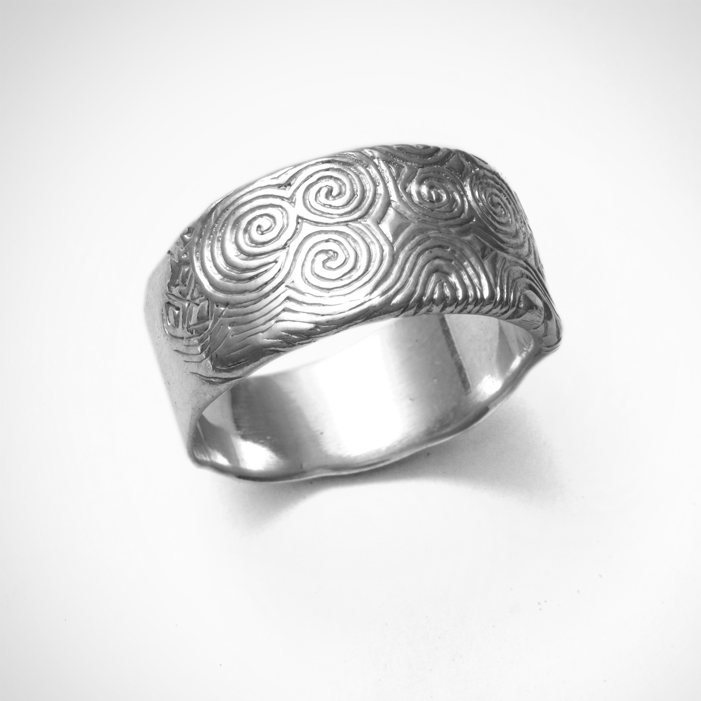 Heavy Newgrange Silver Ring