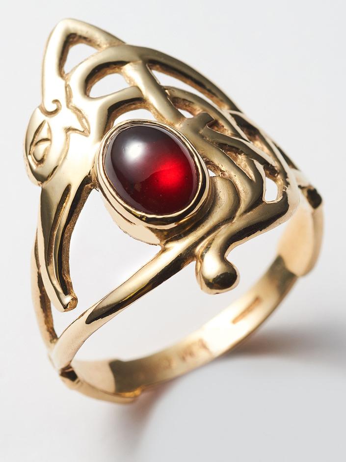 Garnet Eagle Ring,